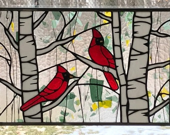 8ff32d976ab Cardinal Stained Glass Panel