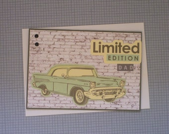 Limited Edition Dad Greetings Card FREE SHIPPING