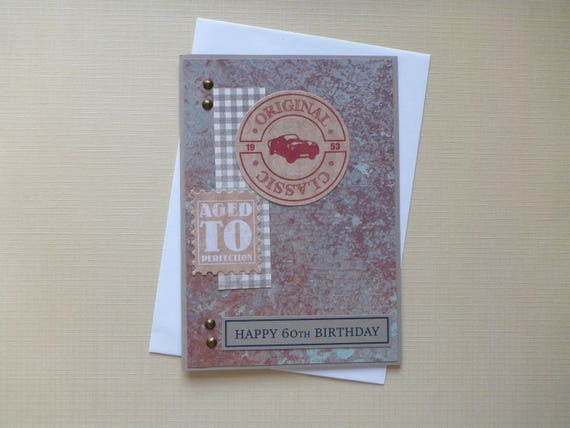 Masculine 60th Birthday Card FREE SHIPPING