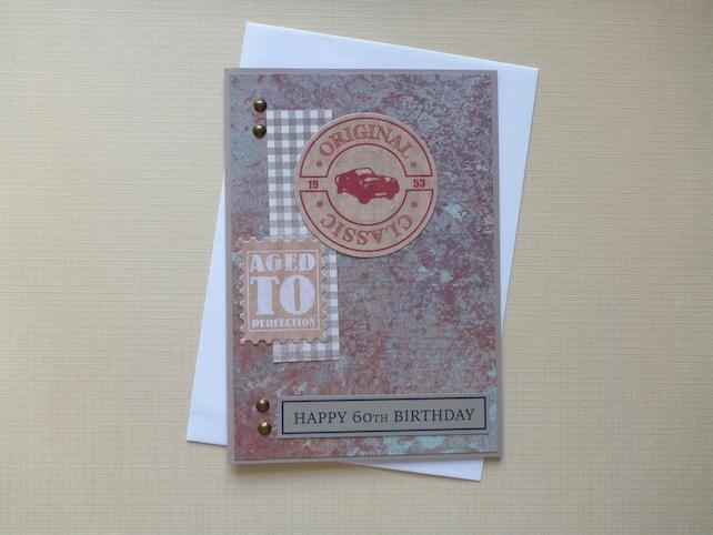 Masculine 60th Birthday Card FREE SHIPPING