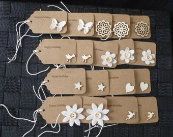 Happy Birthday Gift Tag Pack FREE SHIPPING