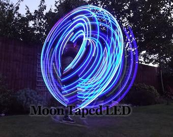 Starfish Moon Taped LED Polypro Hula Hoop