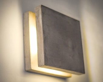 Sconce lights etsy concrete lamp sc199 handmade concrete dimmer lamp plug in wall sconce wall lamp plug in wall lamp wall light minimalist nightlight aloadofball Choice Image