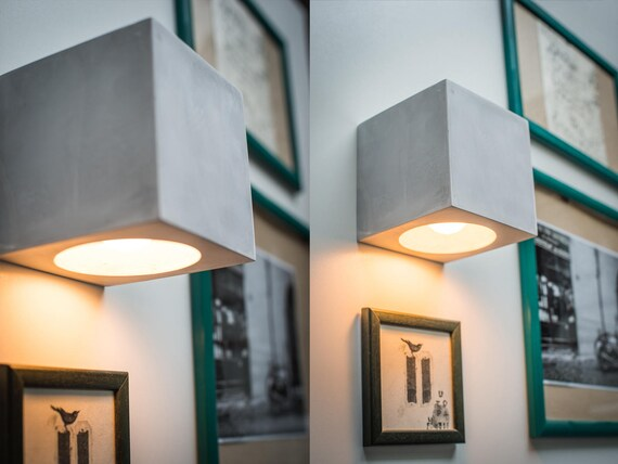 Beton wandlampe. simple great elegant beton handarbeit beton optik