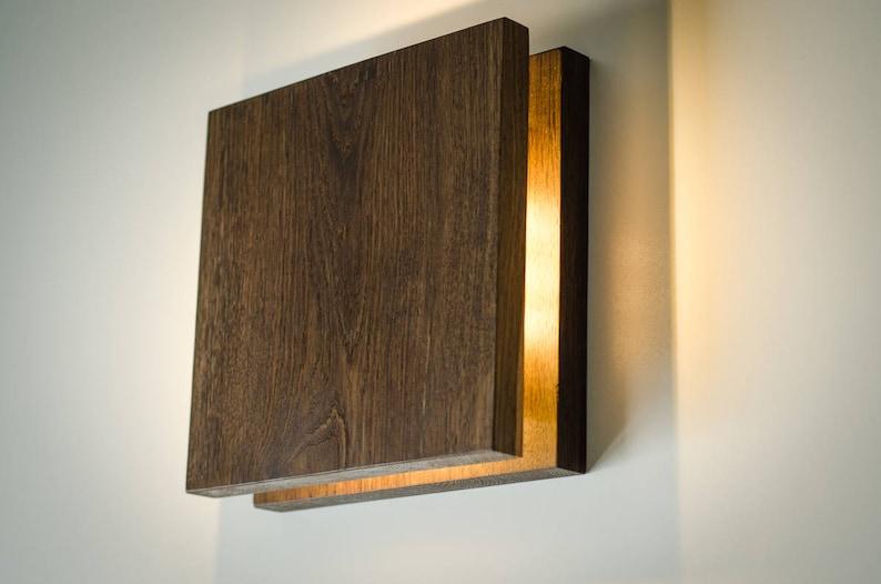 Applique murale sc fait à la main lampe en bois prise etsy
