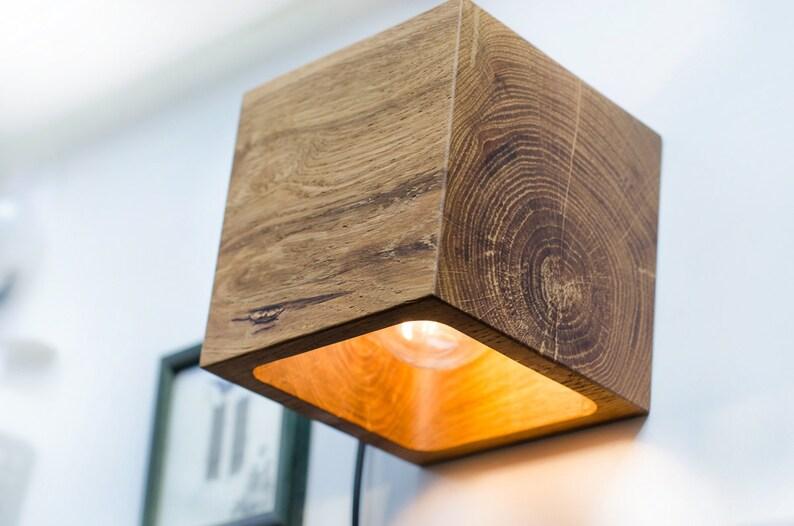 Applique q fait à la main applique murale lampe en bois etsy
