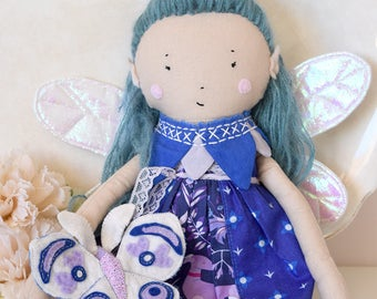Moon Blossom Fairy with Moth Doll