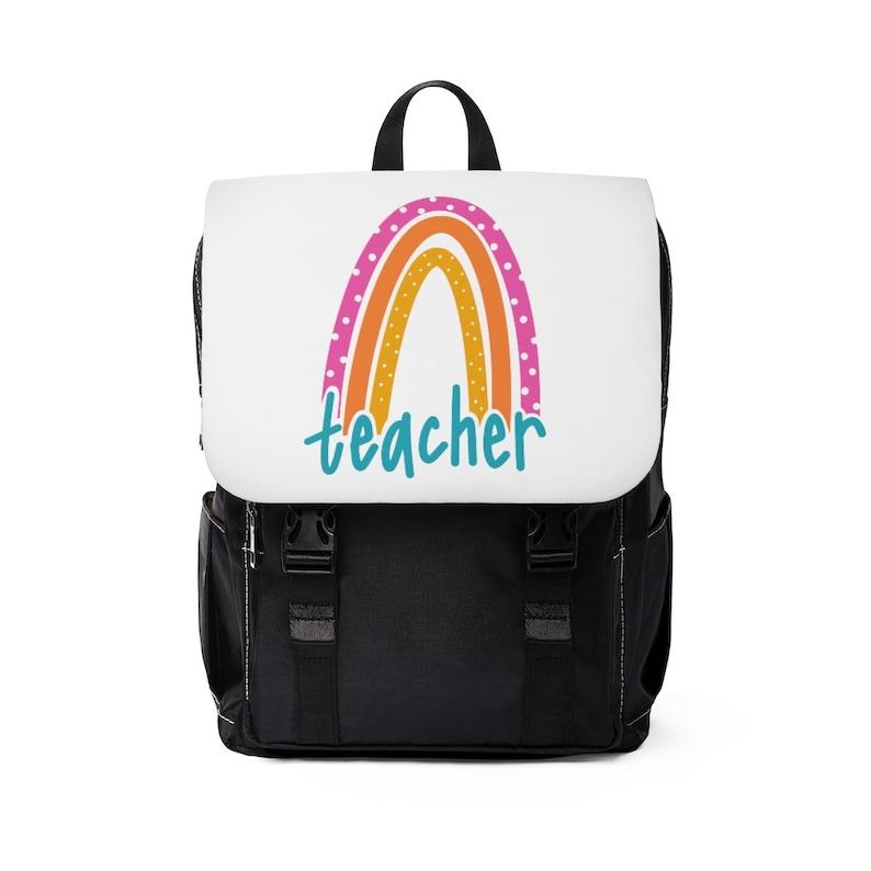 Teacher Backpack Teacher Casual Shoulder Backpack Teacher image 0