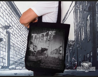 "Tote bag ""they're here"" fair trade & organic"