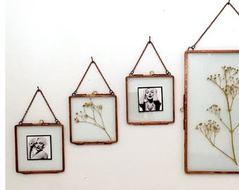 Glass frame, wedding favors, little glass frame with closures for pictures, watercolours, lace collection, flowers.