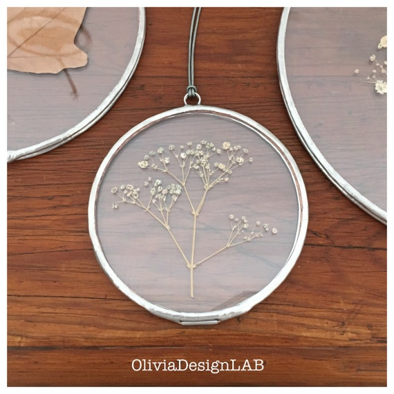 Round frame 4 or 6 inches diameter, floating frame, oval frames, dried flowers frame, picture frames, copper frame, handmade frame.