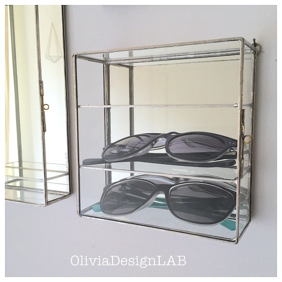 Sunglasses organizer, glasses display, glasses case organizer wall display, gifts for her, gifts for him.