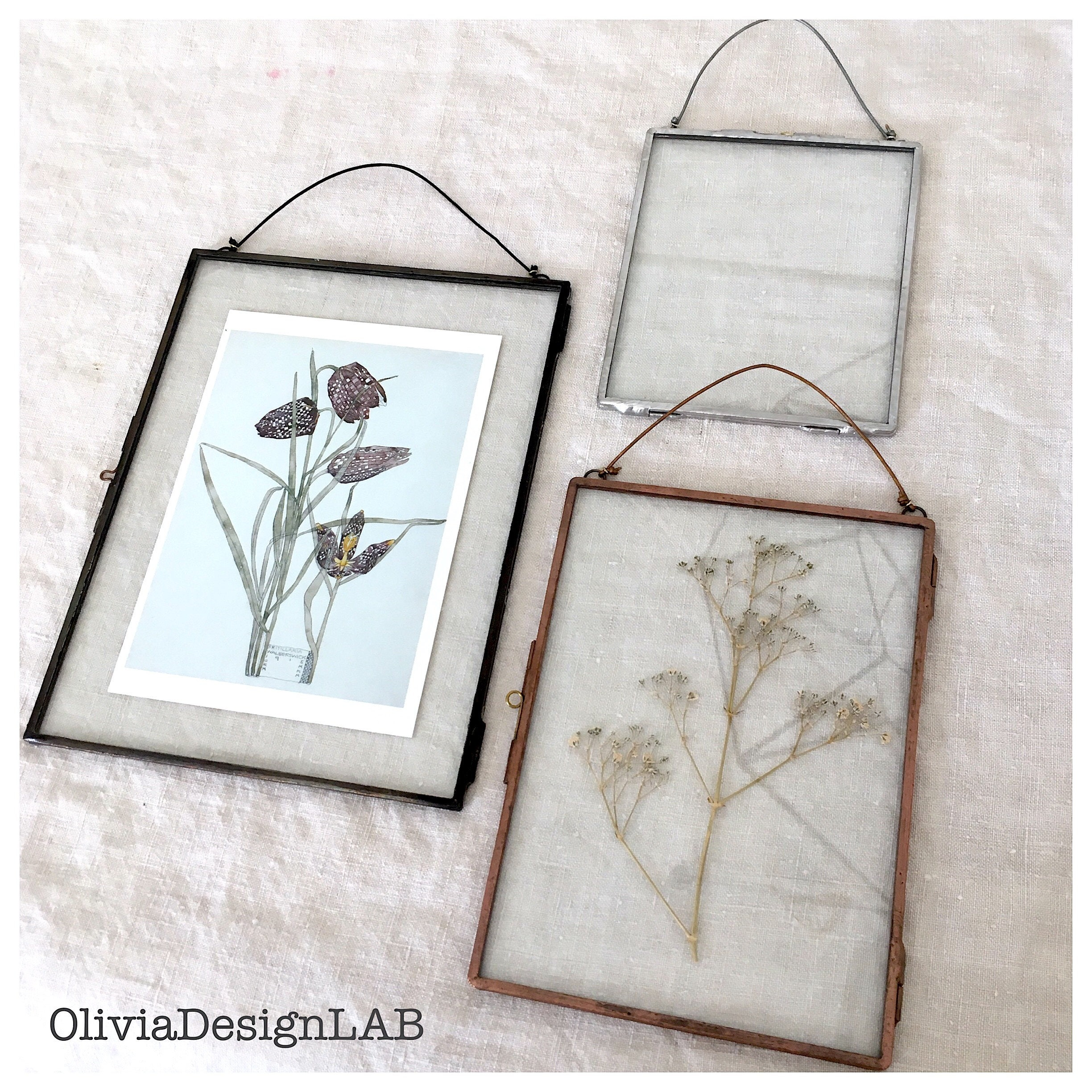 Floating glass frames MEDIUM SIZE made to measure glass frames ...