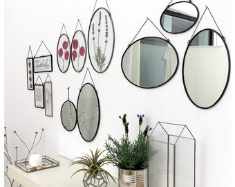 Mirror, oval and round mirrors, handmade mirrors.