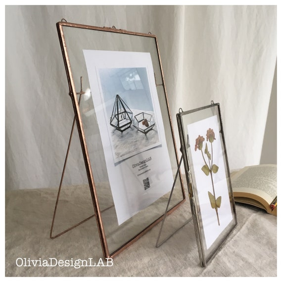 5 x 7 Floating frames with stand, table number, wedding favors, gift for her for pictures, watercolors, lace collection, dried flowers.