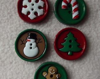 Buttons Galore Santa/'s Hat Rack 4739 Santa Heads Xmas Christmas Dress It Up