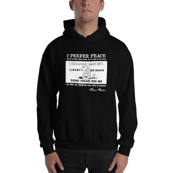 I Prefer Peace Hooded Sweatshirt