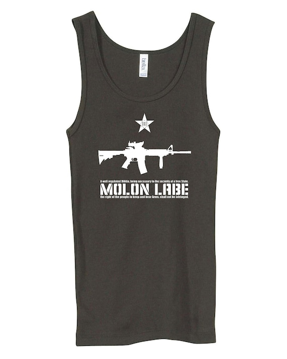 Molon Labe Ladies Tank Top. Come and take it!