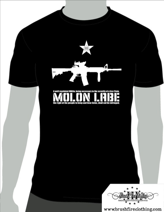 MOLON LABE!!! 2nd Amendment T-shirt