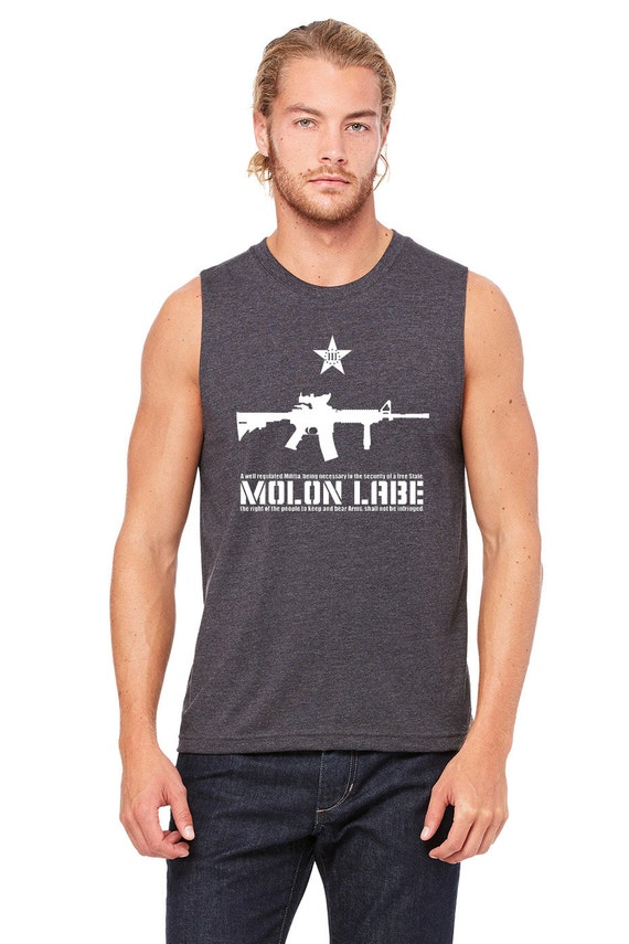 MOLON LABE!!! 2nd Amendment Muscle T