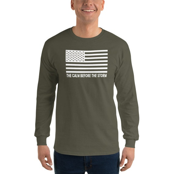 Q The Calm Before The Storm Long Sleeve T-Shirt