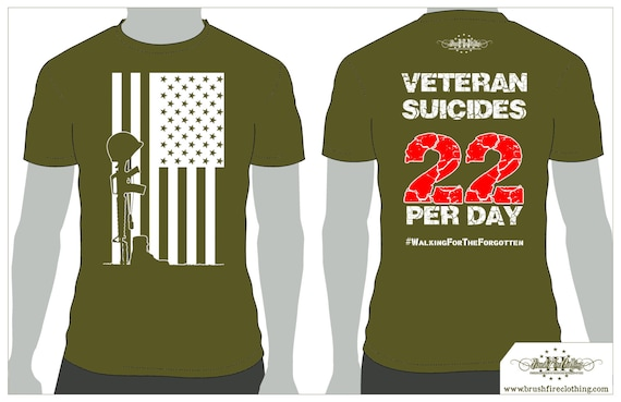SALE! Veteran Suicide Awareness, Large Flag logo. Two dollars of every sale goes to help Veterans with PTSD