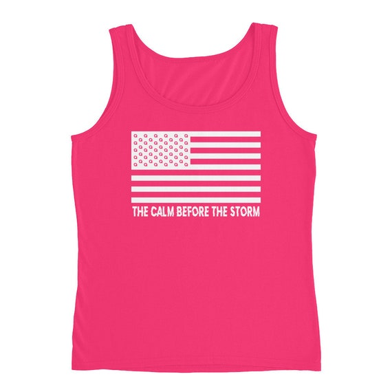 Q The Calm Before The Storm Ladies' Tank