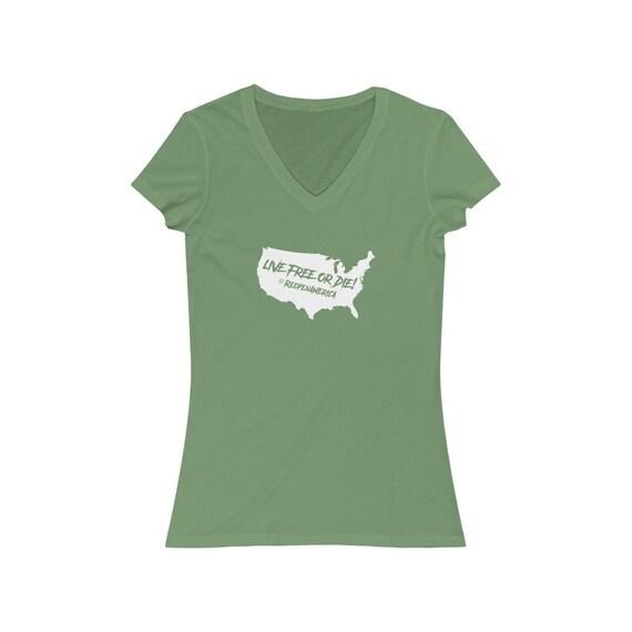 Live Free Or Die #ReopenAmerica Short Sleeve Tee Women's V-Neck Tee