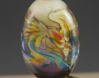 Purple, Pink, Lampwork Glass Focal, Bead, Tammie Mabe, Artisan , Jewelry Making,  Handmade in Texas, SRA, USA, Pendant, Necklace, Tabular