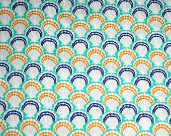 Ratti Seashell Cotton Pique Apparel Fabric Imported Italian   By the Yard