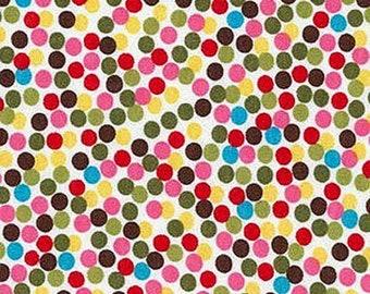 d9b17cae5e7 2 yd Remix Cotton Knit Robert Kaufman Polka Dots Ann Kelle Pre Cut