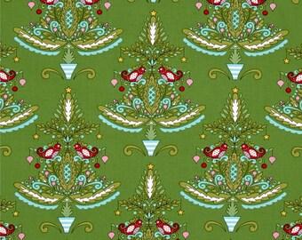 Merry Mistletoe Christmas   Cotton Fabric Dena Designs  Free Spirit By the yard