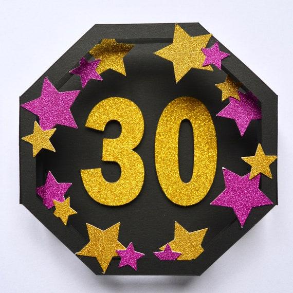 30th Birthday Pop Up Card 3D Pop Up Card Age 30