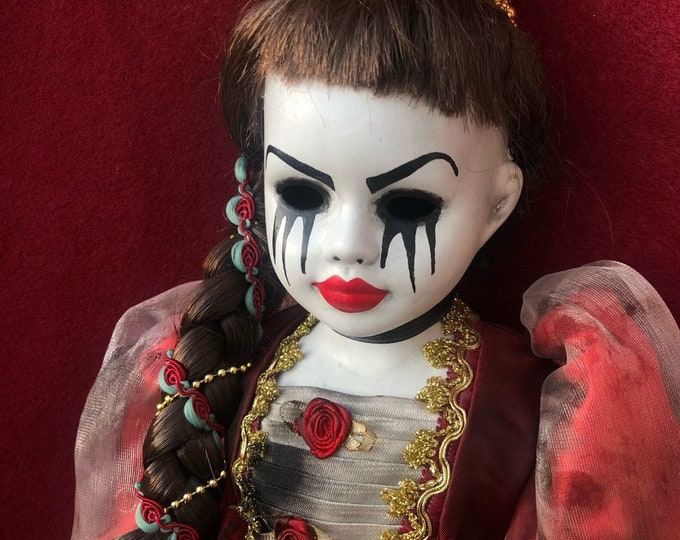 Free usa shipping creepy doll fairy tale princess Rapunzel spooky ooak gothic horror halloween art by christie creepydolls