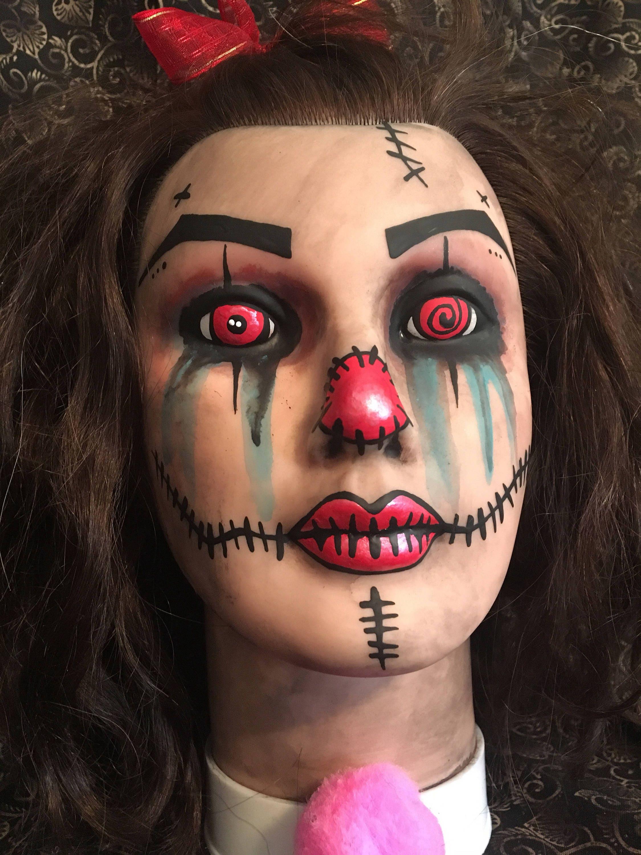 lifesize mannequin head prop display ooak goth spooky ooak creepy