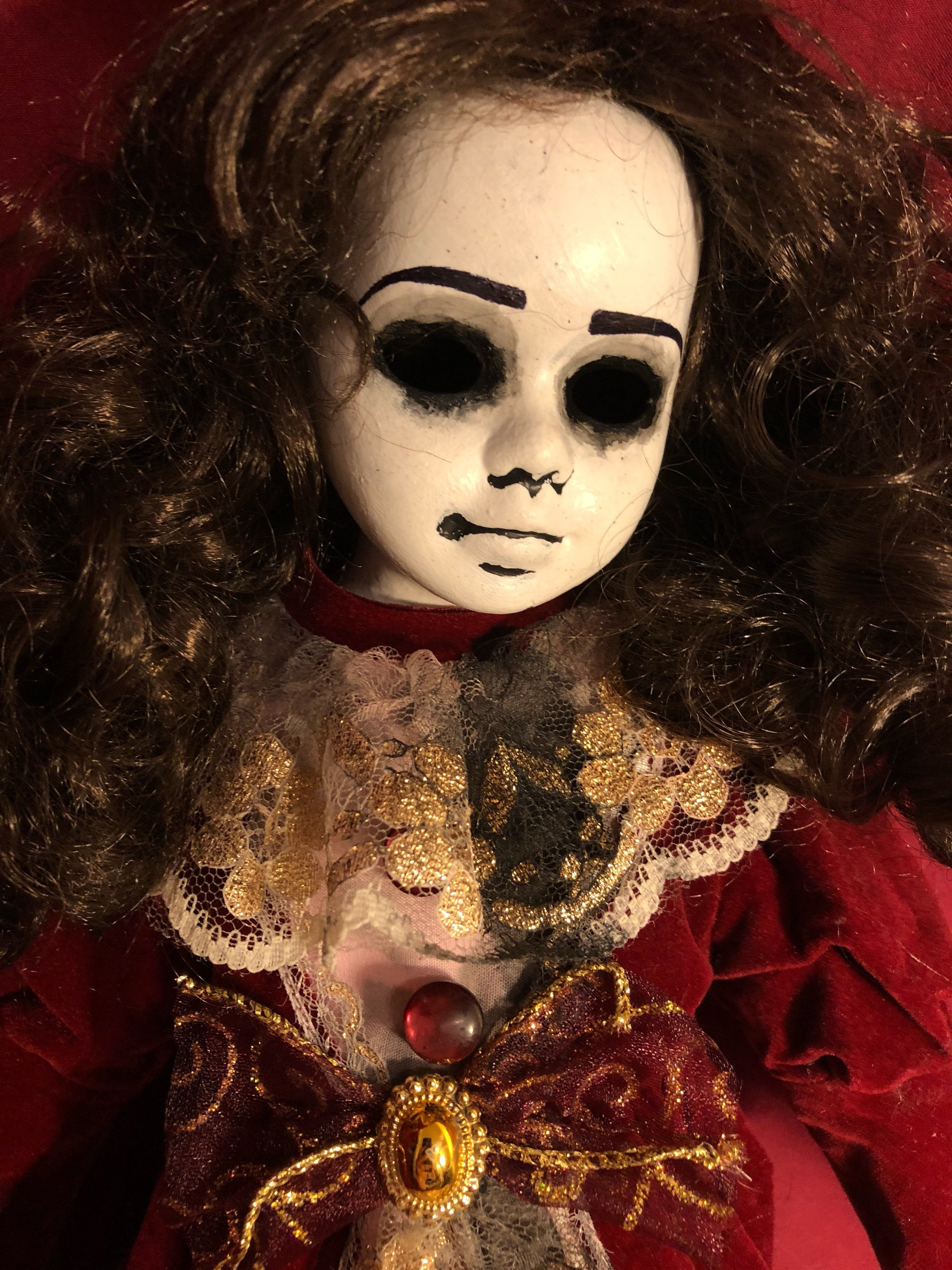 art doll ooak doll halloween doll horror doll creepy doll gothic doll porcelain doll doll hollow eyes