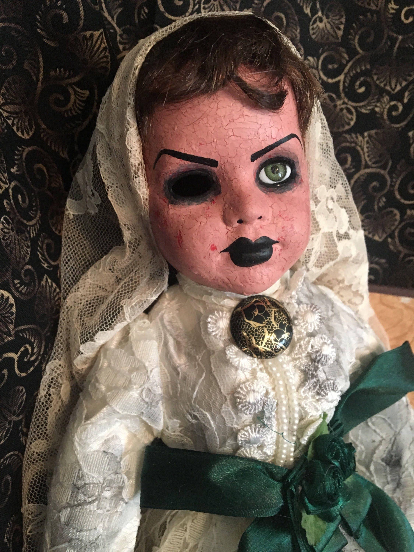 Reserved Art Doll Ooak Doll Halloween Doll Horror Doll Creepy