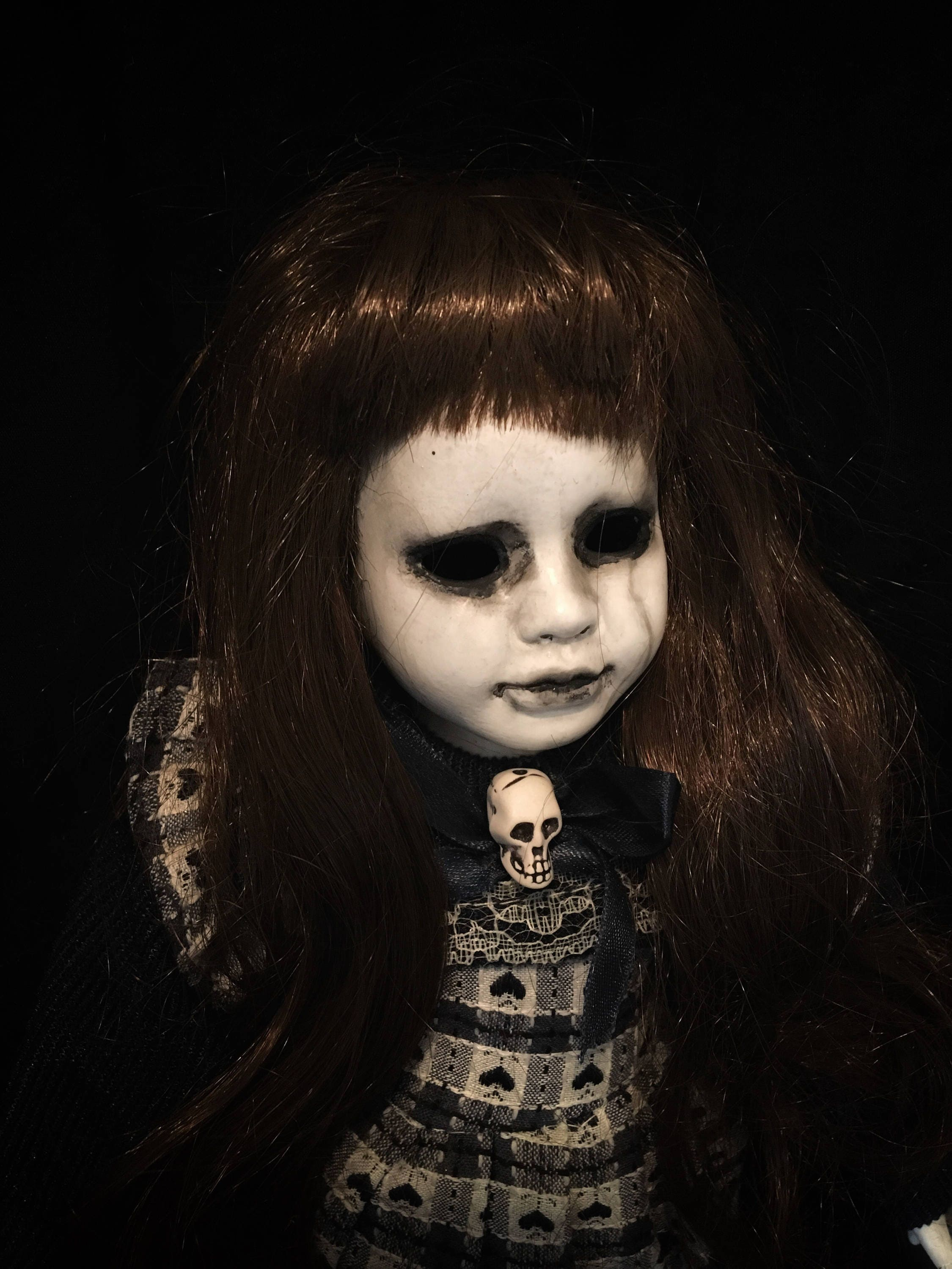 art doll ooak doll halloween doll horror doll creepy doll gothic doll porcelain doll custom doll hollow eyes