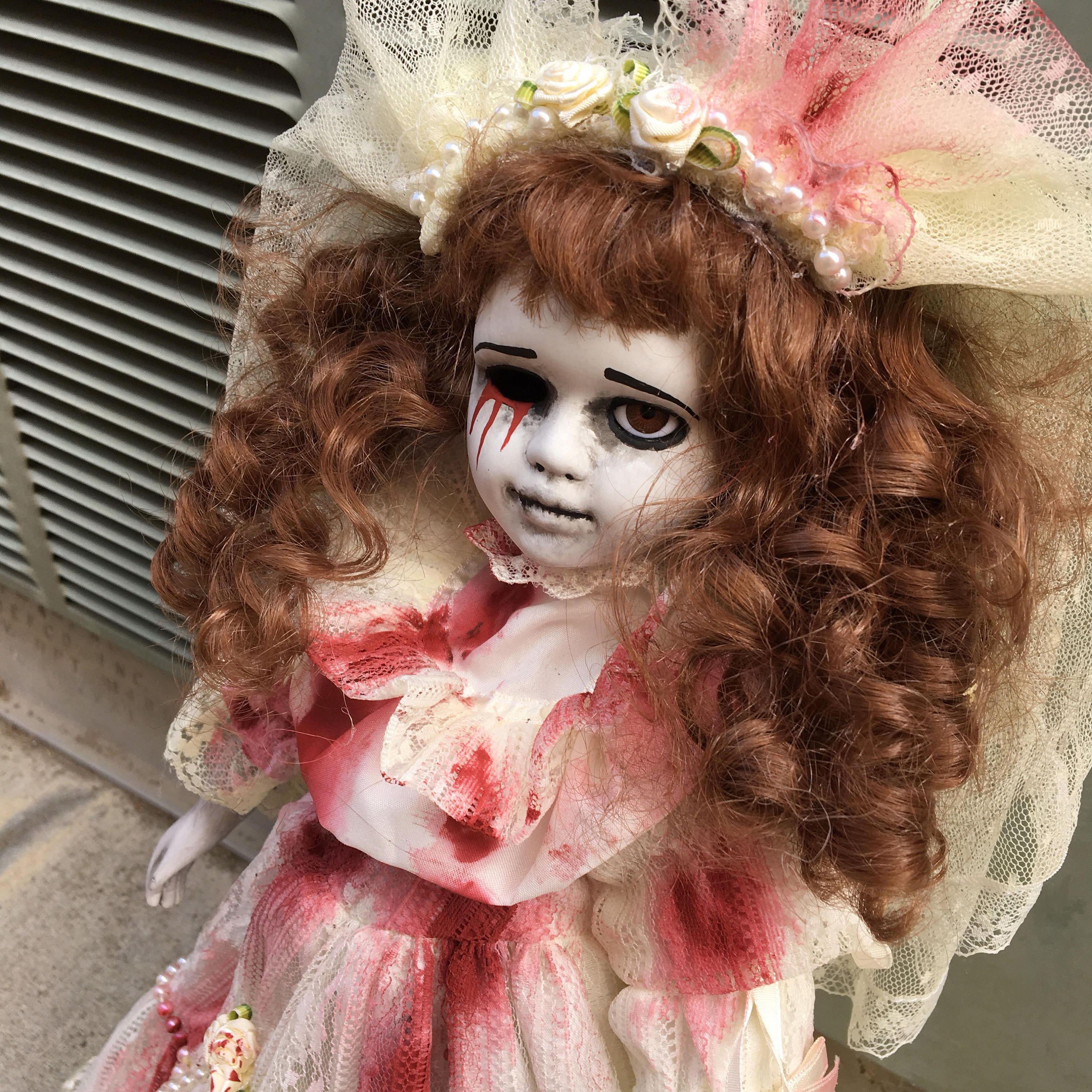 art doll ooak doll halloween doll horror doll creepy doll gothic doll porcelain doll custom doll bride bride doll wedding
