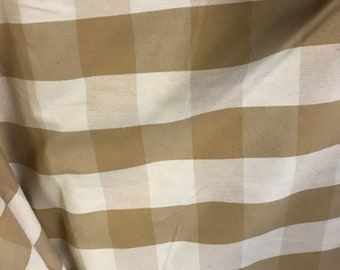 4yards of very nice French country check milled in Belgium vintage