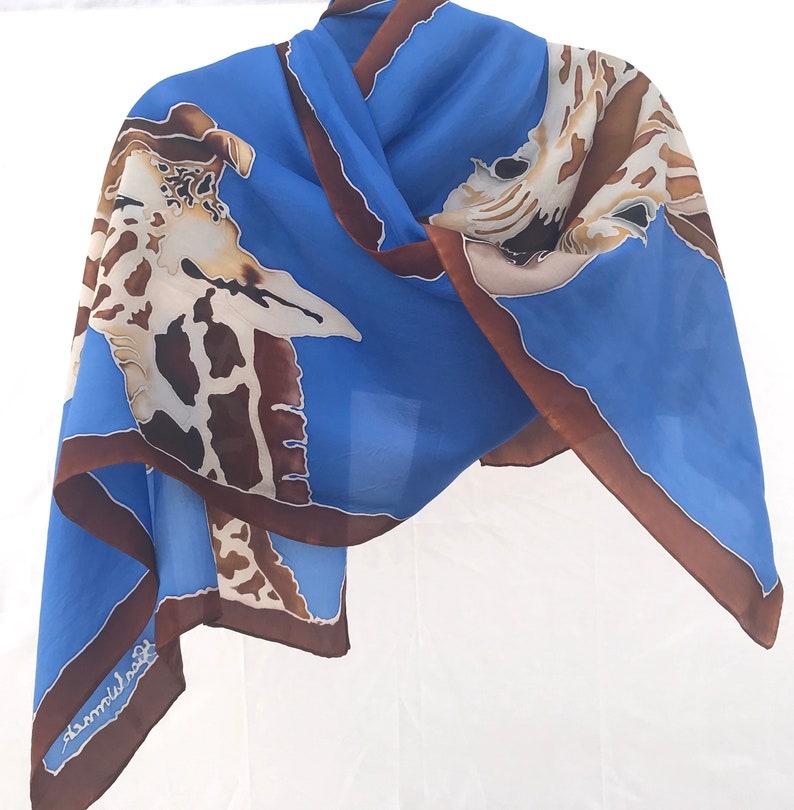 Giraffe Silk Scarf 22x90