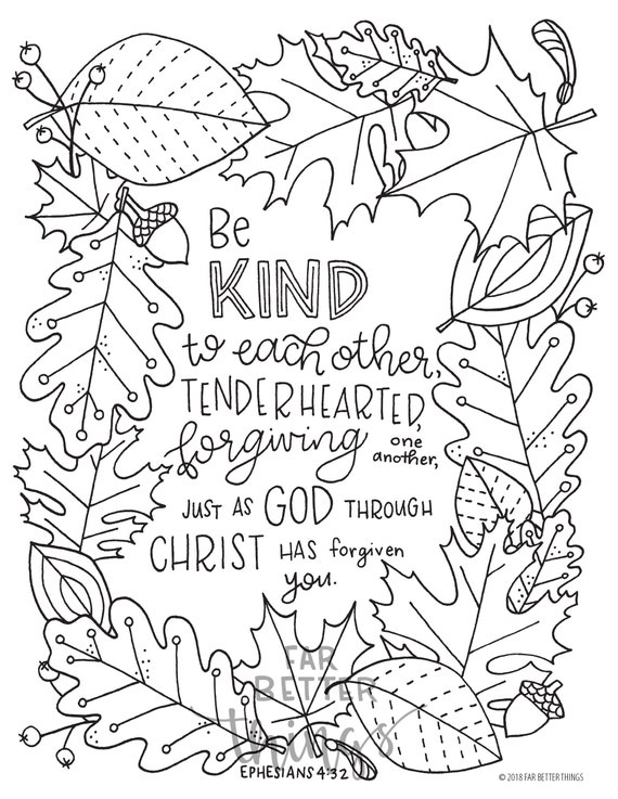 Bible Verse Coloring Page Ephesians 13:13 Printable Digital | Etsy