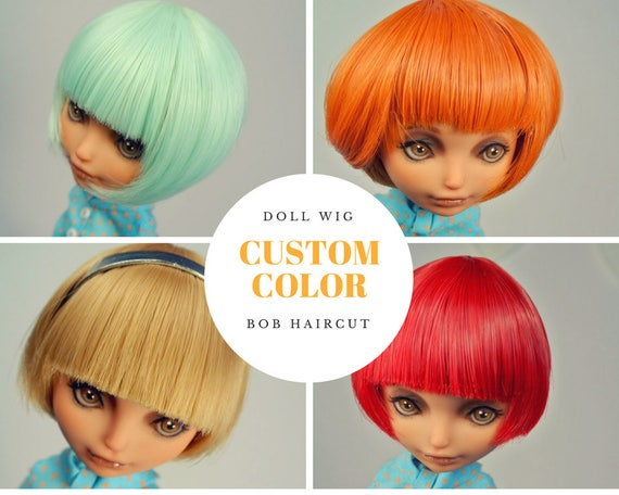 Custom Short Wig For Monster High Ever After High Tiny Bjd Etsy