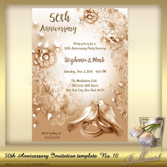 50th Anniversary Invitation Template No10 Golden Wedding Anniversary Invitation Template Printable Template For 50th Wedding Anniversary