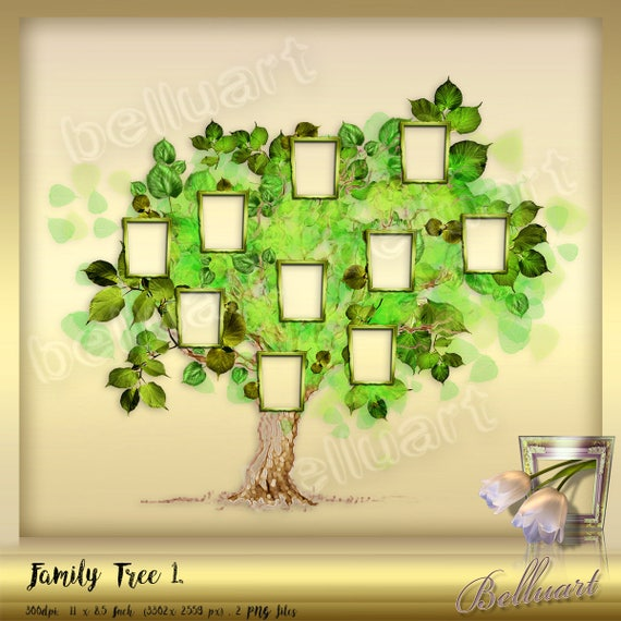 Family Tree Collage Vol.1 - Tree Collage Photo Frame - Family tree ...