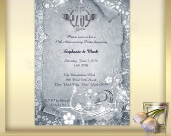 50th Anniversary Invitation Template No 6 Golden Wedding