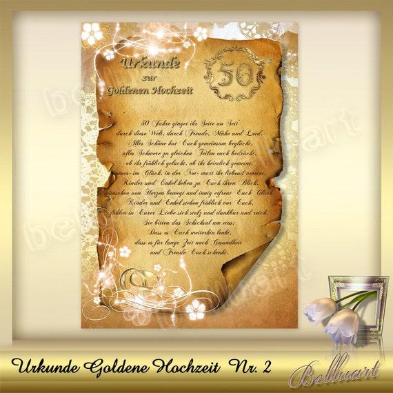 ähnliche Artikel Wie Vorlage Für Urkunde Zur Goldenen Hochzeit Nr 2
