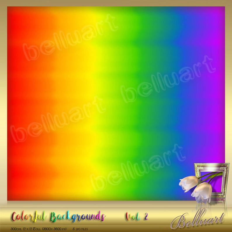 12 x 12 instant download Rainbow Digital Paper Ombre Colorful background Rainbow backdrop 5 Colorful digital Backgrounds Vol 2