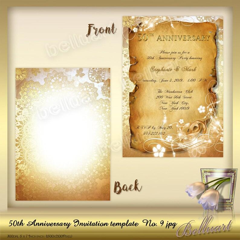 50th Anniversary Invitation template No9 Golden Wedding Anniversary Invitation Template printable template for 50th wedding anniversary