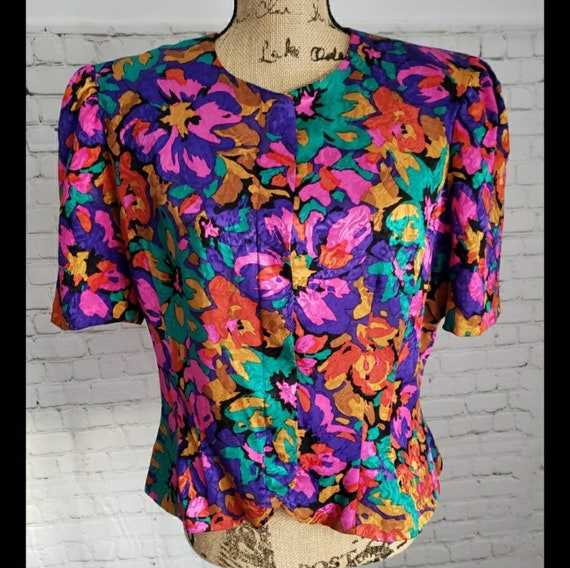 Vintage 80's Adrianna Pappell Beautiful Colorful S